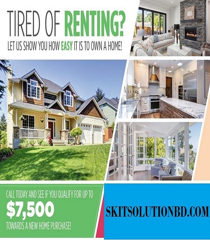 Design Real estate postcard