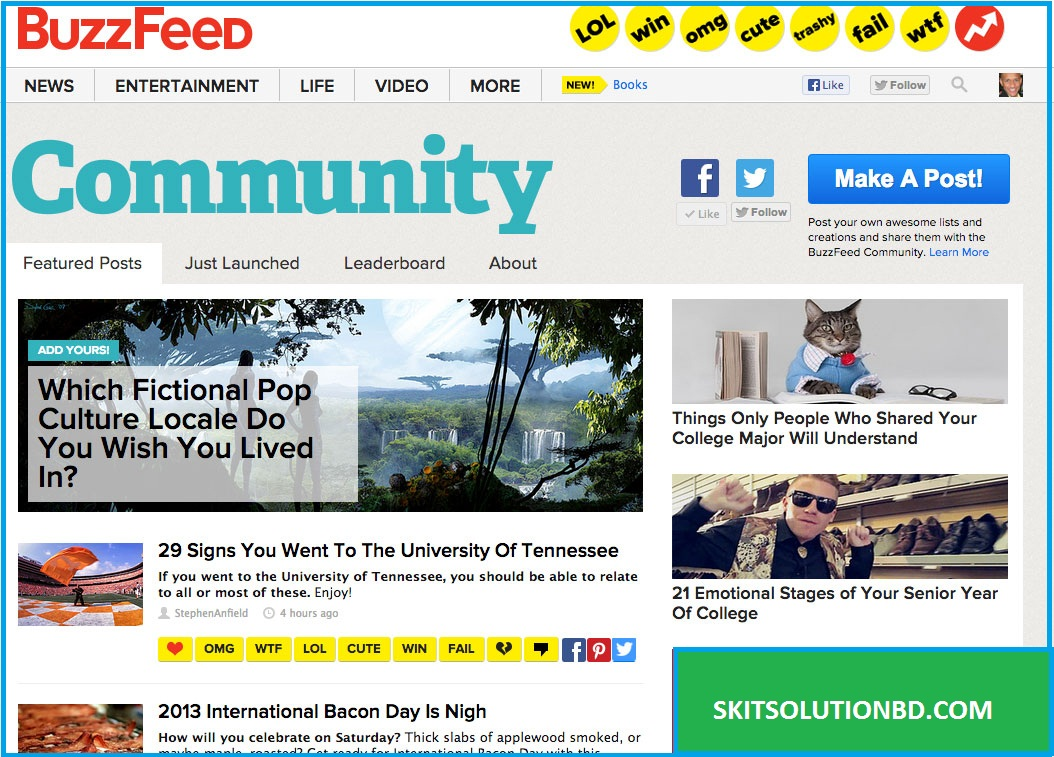 Write for community Websites