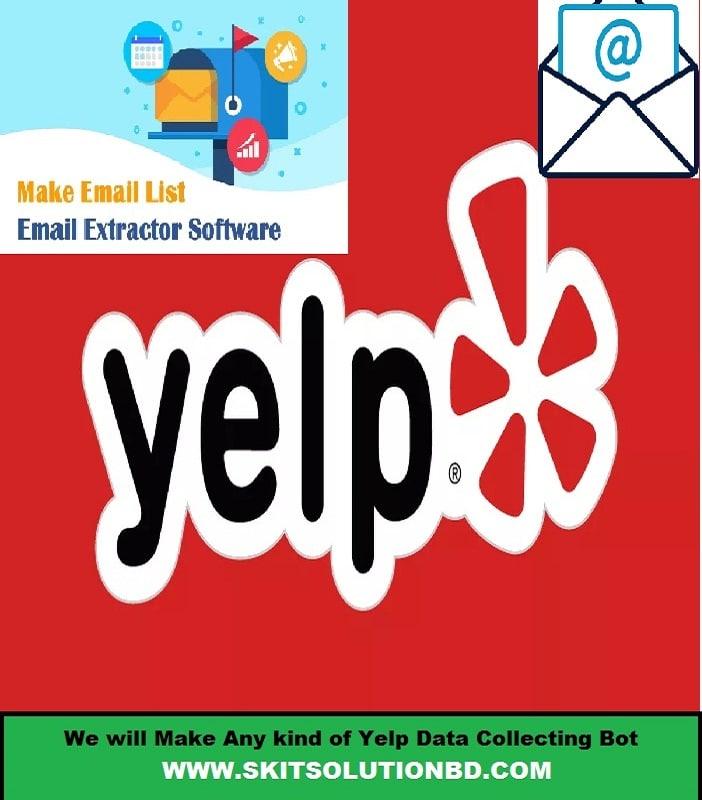 yelp email Scraping bot