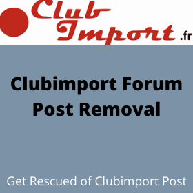 Clubimport Forum Post Removal